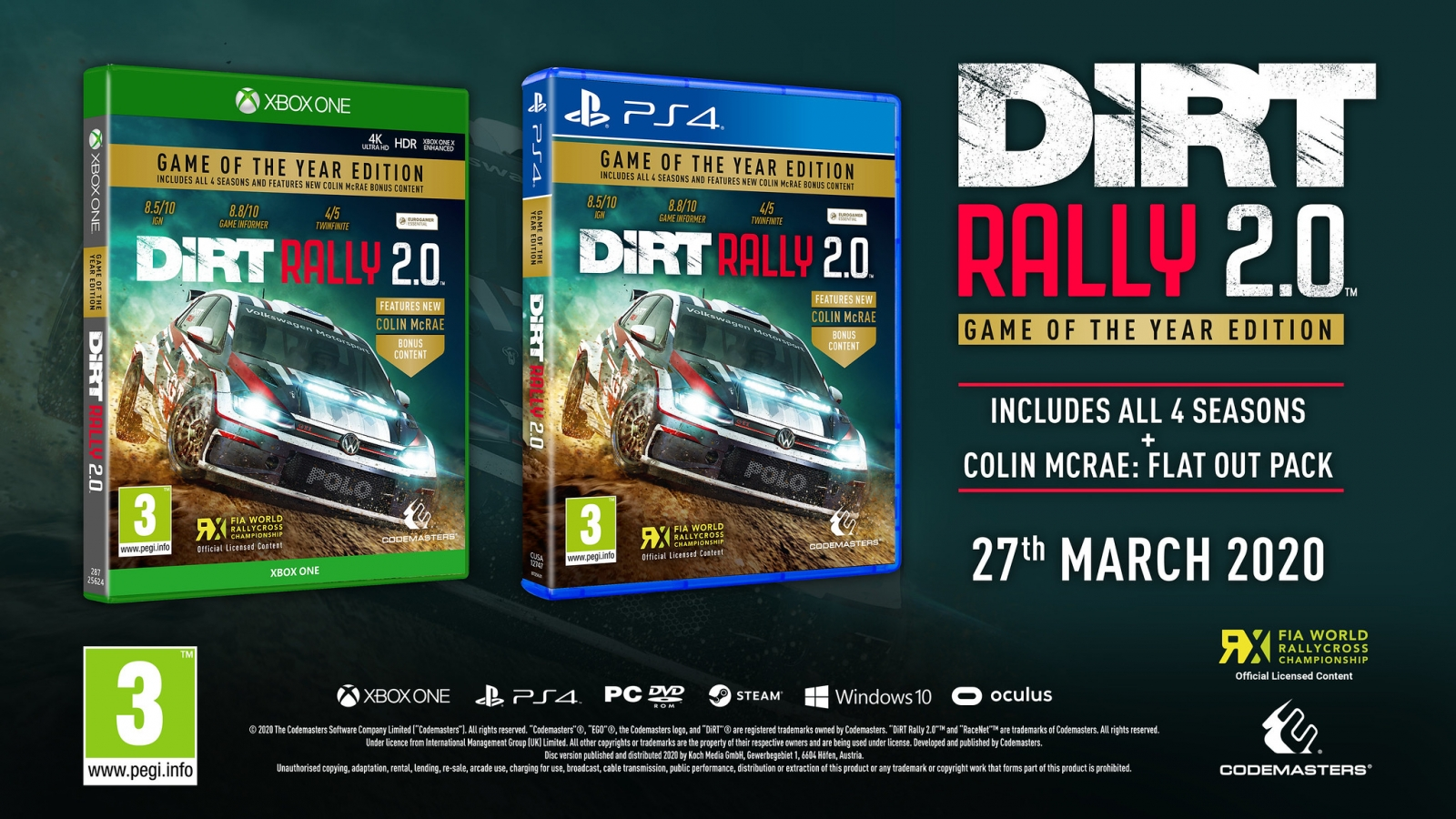 PS4 Dirt Rally 2.0 Game Of The Year Edition