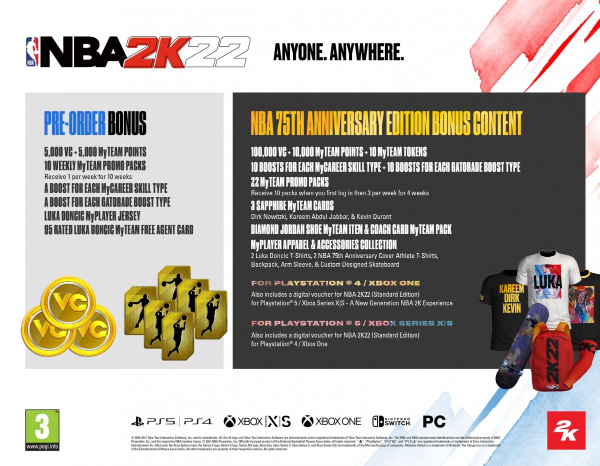 XBOXOne NBA 2K22 75th Anniversary Edition