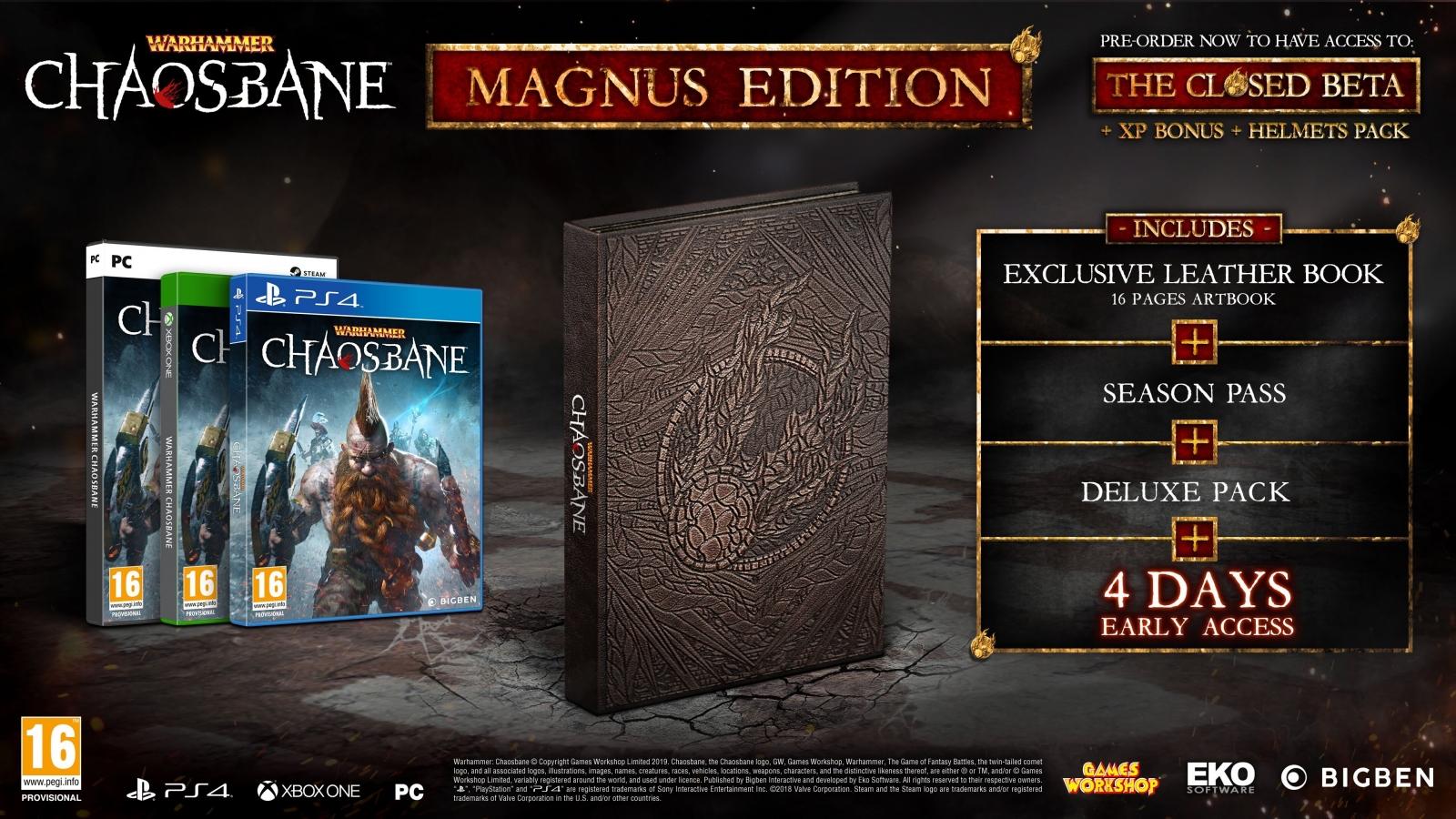 PS4 Warhammer Chaosbane Magnus Edition