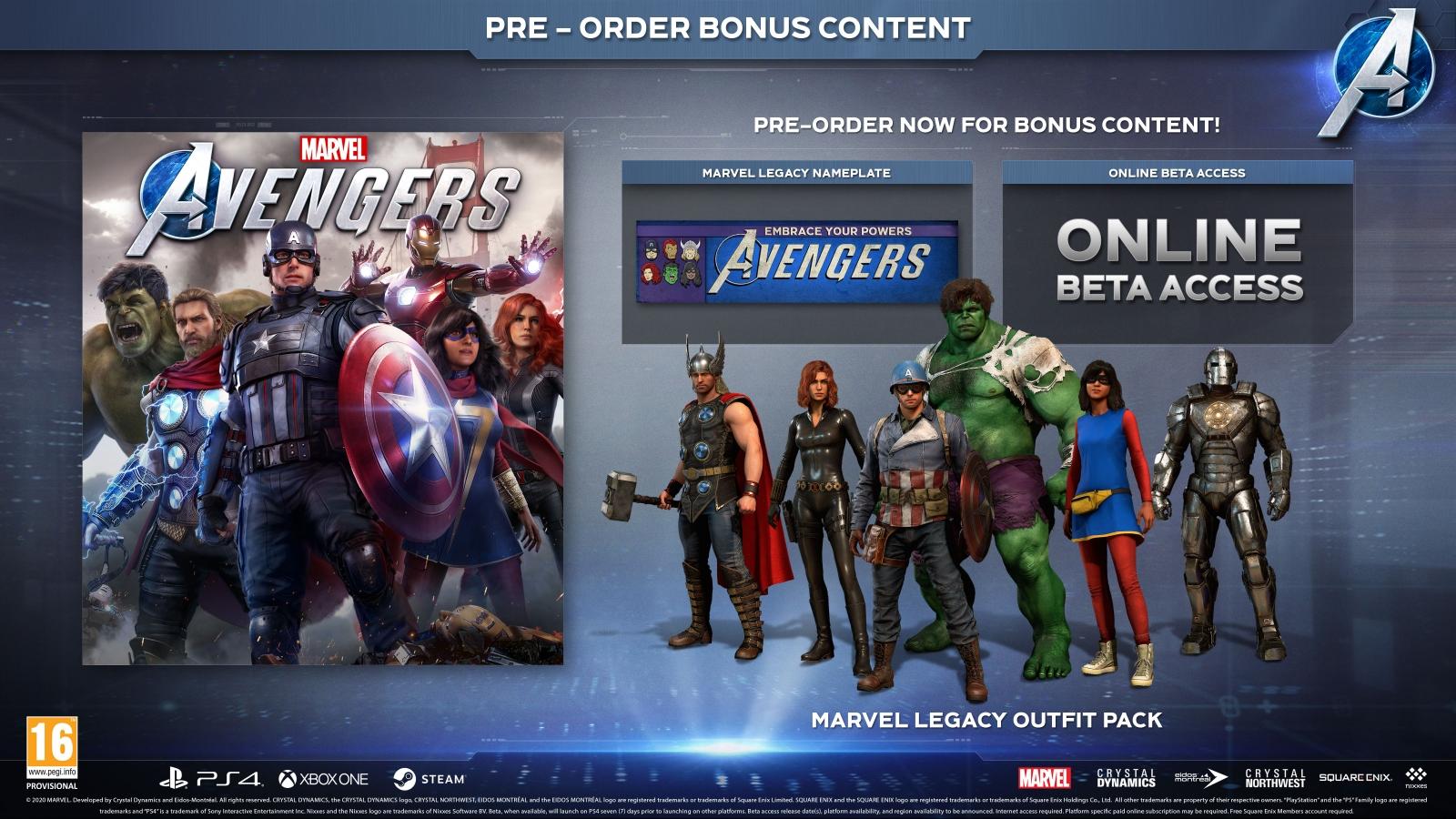 XBOXOne Marvel Avengers + Pre-Order Bonus