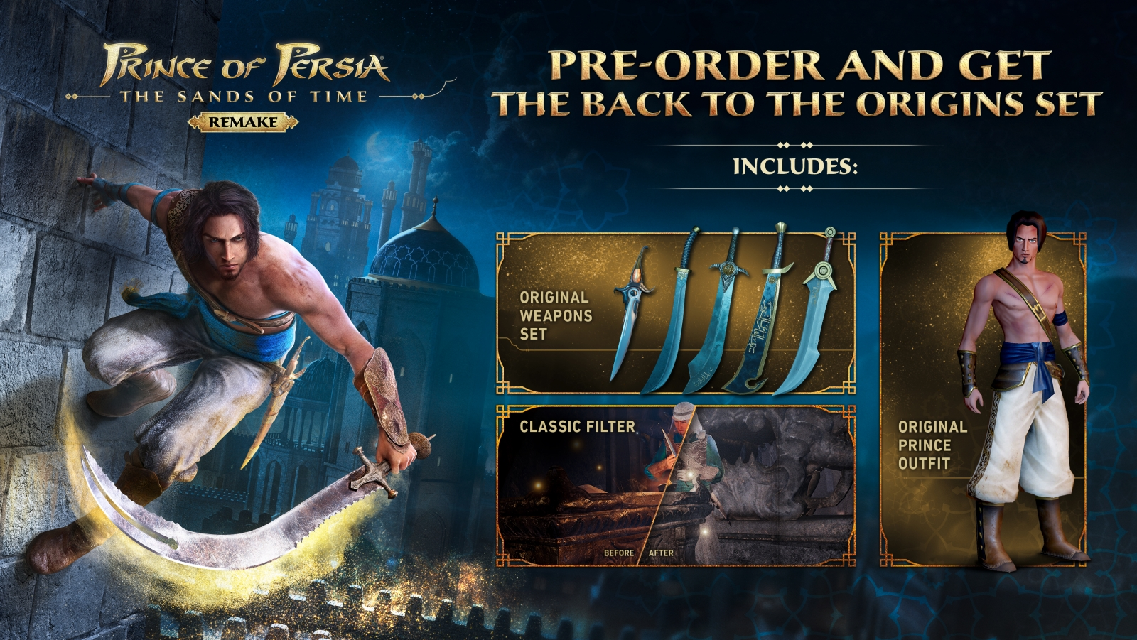 XBOXOne Prince of Persia: The Sands of Time Remake + Pre-Order Bonus