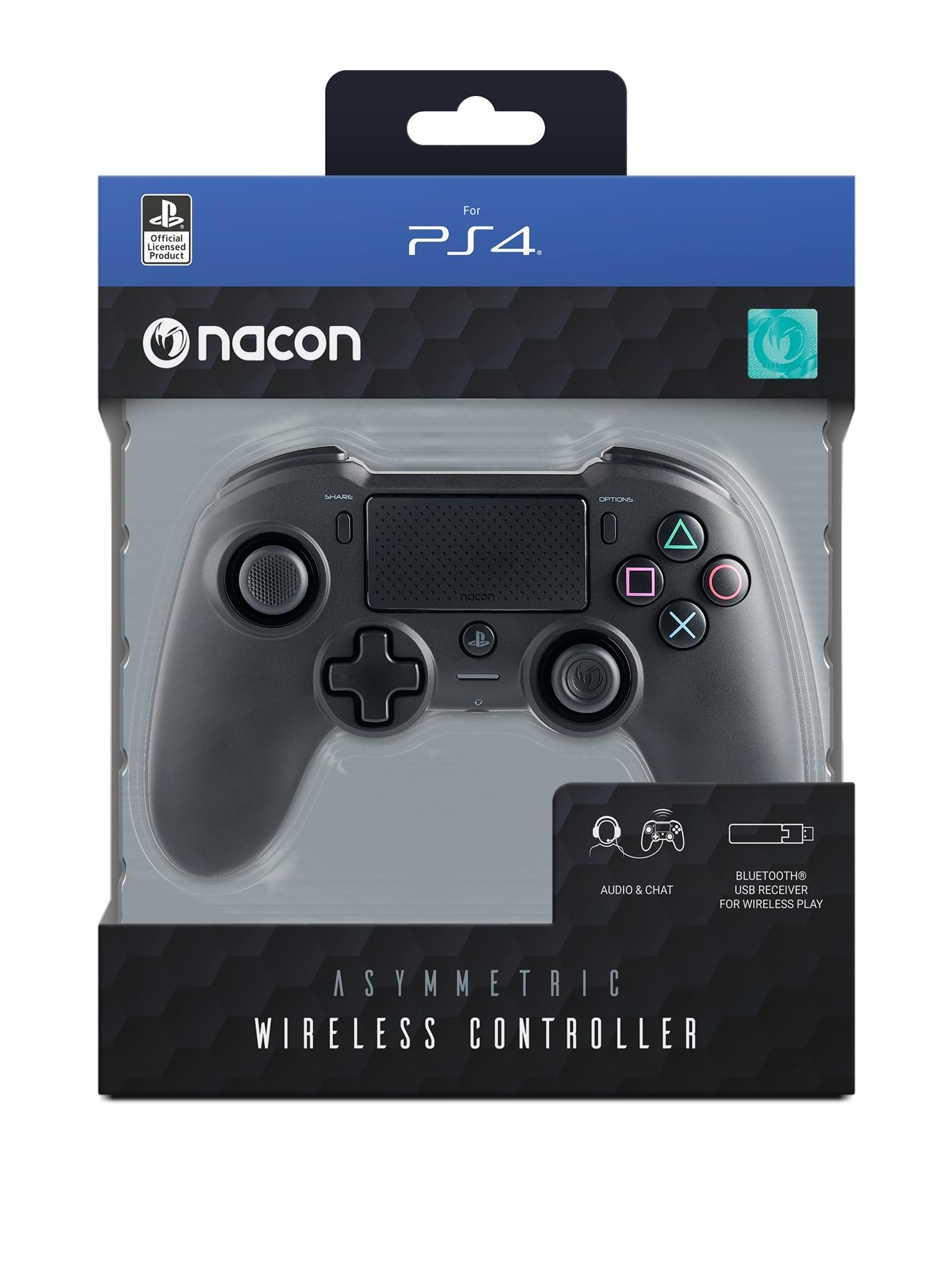 PS4 Nacon Asymmetric Wireles Controller Black